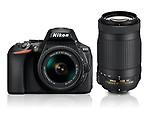 Nikon D5600 with AF-P 18-55mm + AF-P 70-300mm VR Kit