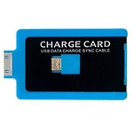 Smiledrive Credit Card Shaped USB Android Charger (Black & Blue)