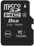 Dell Micro SDHC 8 GB Class 4 Memory card