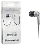 Panasonic In-Ear Canal Earphone Headphone for iPods,MP3 RP-HJE240PSA