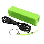 Portable Plastic External Usb 2600 Mah Battery Charger Power Bank