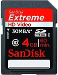 Sandisk Extreme Hd Video Sdhc 4Gb 30Mb/S Class 10