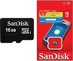 Sandisk Micro 16 GB MicroSDHC Class 4 4 MB/s Memory Card