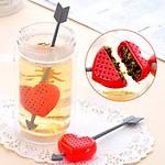 Generic ABS Plastic Sword Heart Tea Filter