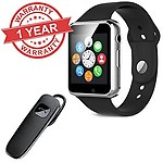 Premium Design Apple iPhone 6 Compatible Latest Black A1 Sport Bluetooth Smart Watch