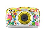 Nikon Coolpix W150 13.2 MP Point & Shoot Camera with 16GB Card, Carry Case and HDMI Cable (Flower)