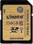 Kingston 256 GB MicroSDXC Class 10 45 MB/s Memory Card
