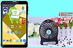 IKALL Buy I KALL N4(1+16) Dual Sim 4G calling Tablet and get 1 rechargeable Fan