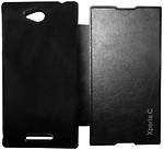 FLIP COVER FOR SONY XPERIA C2305 BLACK