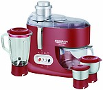 Maharaja Whiteline Ultimate Red Treasure JX-101 550-Watt Juicer Mixer Grinder