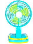 Jy-super Rechargeable portable Led Light 3 Blade Table Fan