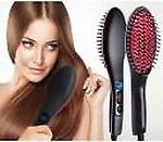 Universal Prime Fast Hair Straightener Brush Fast Hair Straightener Hair Straightener Brush(Black & Red Combination)