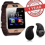 MacBerry Premium Design Micromax Canvas Nitro 4G Compatible Bluetooth Smart Watch DZ09