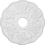 Ekena Millwork CM17TS 17 7/8-Inch OD x 3 7/8-Inch ID x 1-Inch Terrones Butterfly Ceiling Medallion