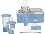 Maharaja Whiteline Real Juicer Mixer Grinder (White & Blue)