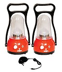 Urjja Set of 2 12 LED New Moon Plastic Rechargeable emergency light