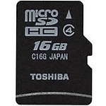 Kingston MicroSD Card 16 GB Class 4