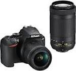 Nikon D3500 DSLR Digital Camera with 18-55mm and 70-300mm Lenses + More