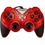 Quantum QHM 7487-2V-C USB Gamepad with Shock Function (Red)