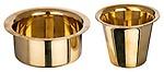 Bhavani Brass Traditional Coffee Cup and Dabra Set, 2-Piece, 240g