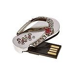 Quace 16GB Metal Crystal Slipper Fancy USB Pen Drive
