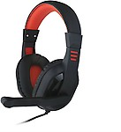 Shrih Black And Red Gaming Wired Headphones( On the Ear)