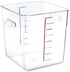 Rubbermaid Commercial FG630800CLR Space-Saving Container 8-Quart Capacity