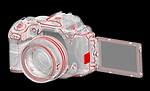 Pentax K-S2 SLR lens kit w/18-135mm WR balck/orange 20 MP Weatherized Wi-Fi/NFC Enabled SLR Camera, Body Only