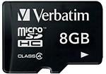 Verbatim SDHC 8Gb Class 4 Memory Card