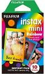 Fujifilm Rainbow Instax Mini 10 Sheet Pack Film Roll  (Yes 800 ISO Pack of 10)