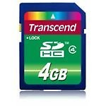 Transcend SDHC 4 GB Class 4 Memory Card