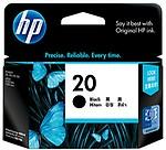 HP 20 Large Black Ink Cartridge (Black)
