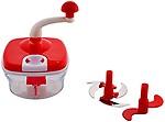 Jony 10_in_1_Red Manual Food Processor by A TO Z Sales-AZ5021