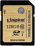 Kingston 128 GB SDXC Class 10 90 MB/S Memory Card