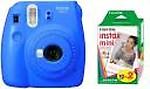 Fujifilm Instax Mini 9 Cobalt with 20 Shots film Instant Camera