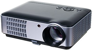 Punnkk P9 2800 Lumens LED Projector with AV/HDMI/USB/VGA for Home Cinema Projector(Black) price in India.