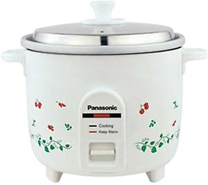 Panasonic SR-WA10 450-Watt Automatic Cooker Without Warmer (White)(Raw Capacity-0.6 kgs) price in India.
