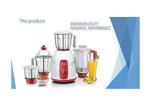 Prestige Elegant Mixer Grinder, 750W, 3 Stainless Steel Jar and 1 Juice extractor Jar price in India.