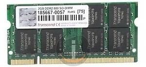 Transcend DDR2-800/PC2-6400 DDR2 2GB Laptop Memory (JM800QLU-2G) price in India.