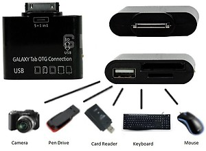5 in 1 USB Card Reader Writer OTG Camera Connection Kit for Samsung Galaxy Tab 10.1, 8.9, 7.7 7.0 P7500 P7510 P7300 P7310 P6200 P6210 price in India.