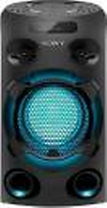 Sony MHC-V02 with LED Light & Karaoke Bluetooth Party Speaker(Black, 2.0 Channel) price in India.