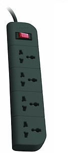Belkin Essential Series 4-Socket Surge Protector Universal Socket with 5ft Heavy Duty Cable (Grey) price in India.