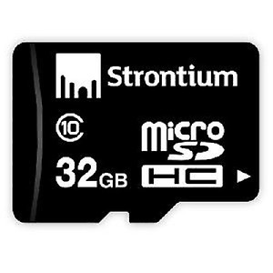 Strontium Nitro microSDHC UHS-I 32 GB Class 10 Memory Card price in India.