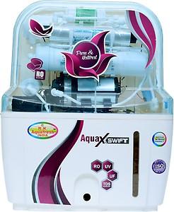 Rk Aquafresh India ZX14STAGE 12 L RO + UV + UF Water Purifier(White) price in India.