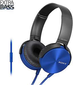 Sony MDR-XB450AP On-Ear EXTRA BASS Headphones with Mic (Red) price in India.