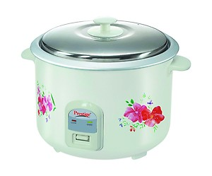 Prestige Delight Electric Rice Cooker PRWO 2.8-2 (1000 Watts) with 2 Aluminium Cooking Pans, Cooks Upto 1.7 kg Rice (Printed Flowers) price in India.