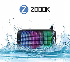 Zoook ZB-RockerMini Splash-Proof Wireless Bluetooth Portable Speaker with Dynamic LED Lights and HD Sound price in India.