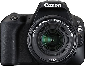 Canon EOS 200D 24.2MP Digital SLR Camera with EF-S 18-55 mm is STM Lens and EF-S 55-250 mm is STM Lens/Camera Case price in India.