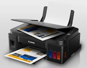 Canon Pixma Ink Efficient G2010 Multi-function Color Printer(Black, Ink Bottle) price in India.