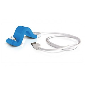 Philips DLC2407BLU/17 Sync & Charge Cable with FlexAdaptStand for iPod/iPhone - Blue price in India.